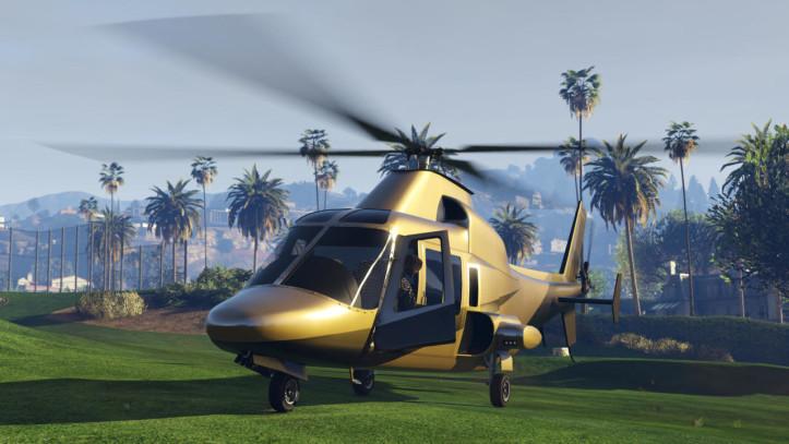 Золотой вертолет в GTA Online
