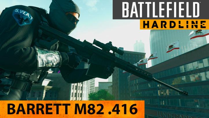 Battlefield Hardline. Полуавтоматическая снайперская винтовка Barrett M82 .416