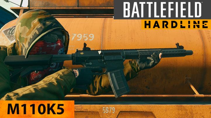 Battlefield Hardline. Боевая винтовка M110K5