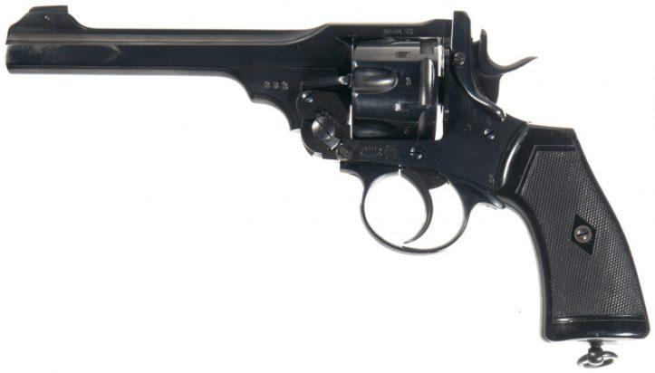Револьвер Webley Mk VI под патрон .455 Webley