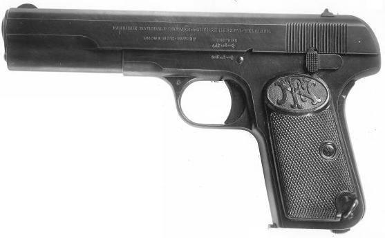 Пистолет FN Browning Model 1903 под патрон 9x20 мм Browning Long.