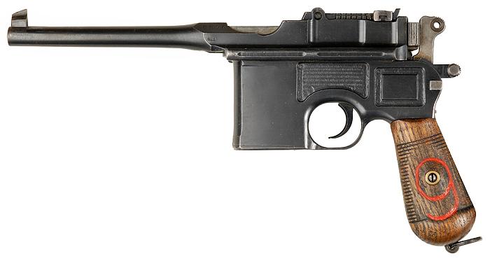 """Mauser C96 """"Red 9"""" 9x19 мм - вариант для Германской армии ."""