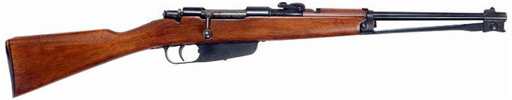Carcano M91/38 Cavalry Carbine со сложенным штыком. Патрон - 6.5 мм.