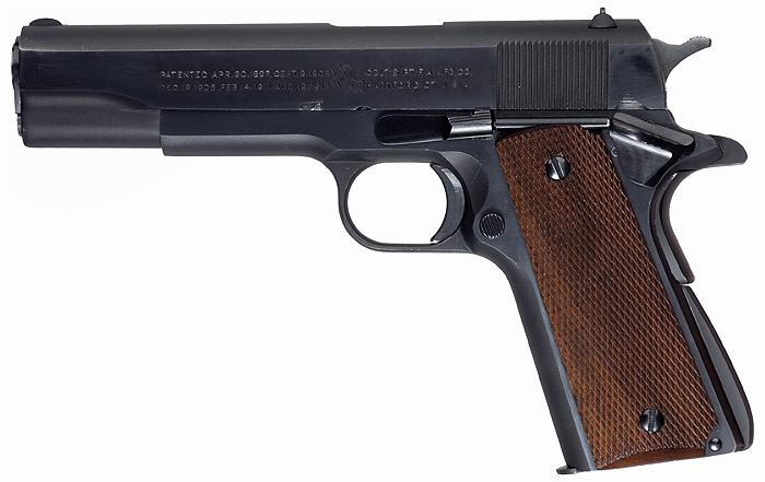 Довоенная версия пистолета Colt M1911A1