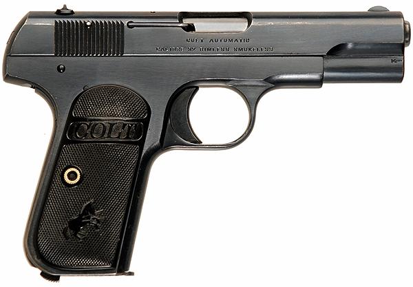 Пистолет Colt Model 1903 Pocket Hammerless под патрон .32 ACP.
