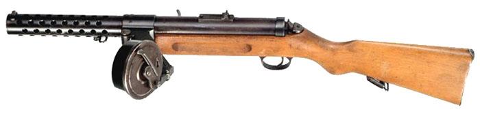 Пистолет-пулемет Bergmann MP18 с барабанным магазином Trommelmagazin 08 на 32 патрона 9x19 мм