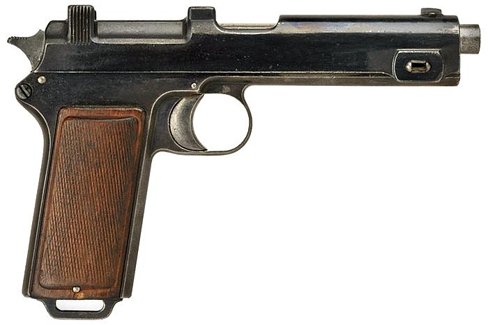 Пистолет Steyr Hahn Model 1912 под патрон 9x23 мм Steyr.