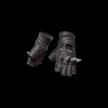 Punk Knuckle Gloves (Black) : 7.50%