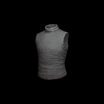 Sleeveless Turtleneck Top (Gray)