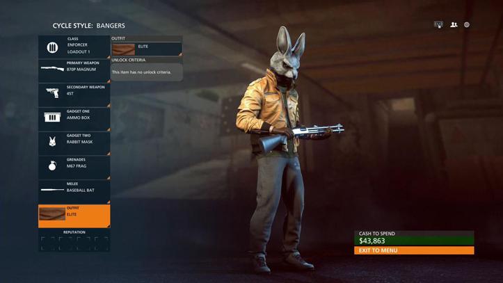 Маска кролика в Battlefield Hardline