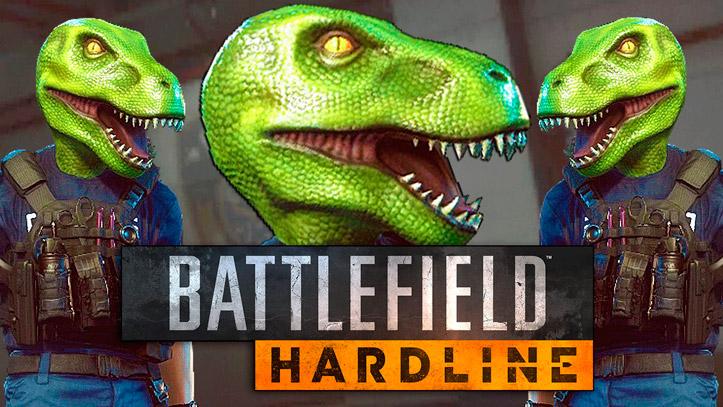 Маска динозавра в новом дополнении Battlefield Hardline будет передана фракции бандитов